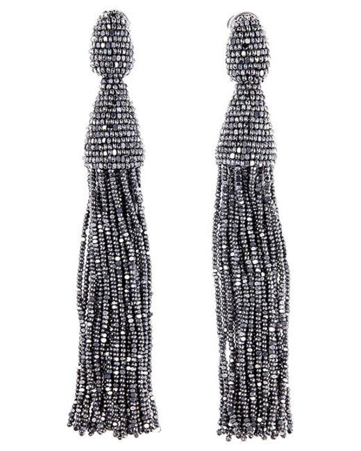 Oscar de la Renta | Multicolor Long Tassel Drop Earrings | Lyst
