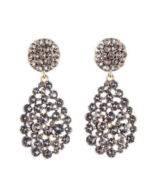 Oscar de la Renta   Black Teardrop Earrings   Lyst