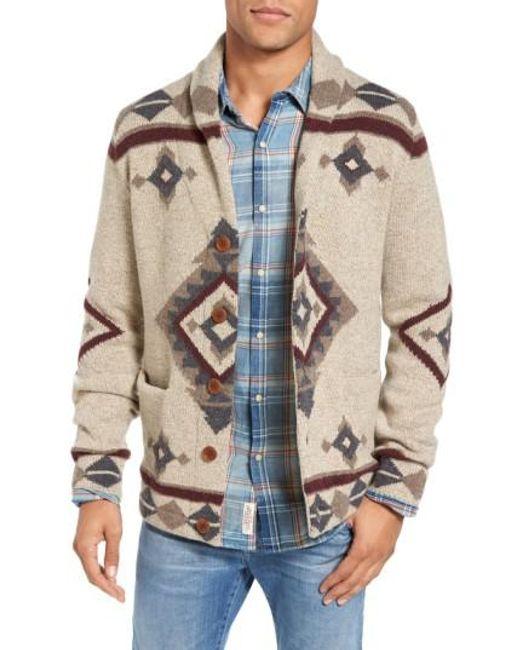 Lucky Brand   Multicolor Fireside Shawl Collar Cardigan for Men   Lyst