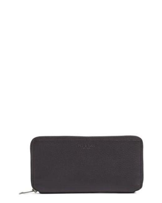Rag & Bone | Black Leather Zip Around Wallet | Lyst