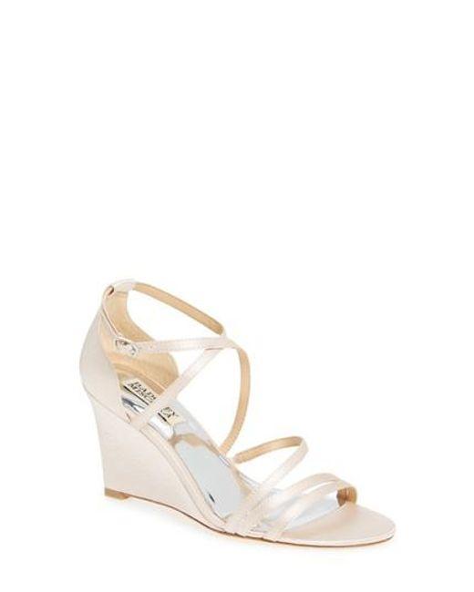 Badgley Mischka | Pink Bonanza Strappy Wedge Sandal | Lyst
