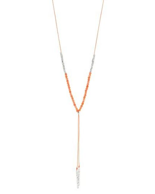 Gorjana   Metallic Power Stone Adjustable Y-necklace   Lyst