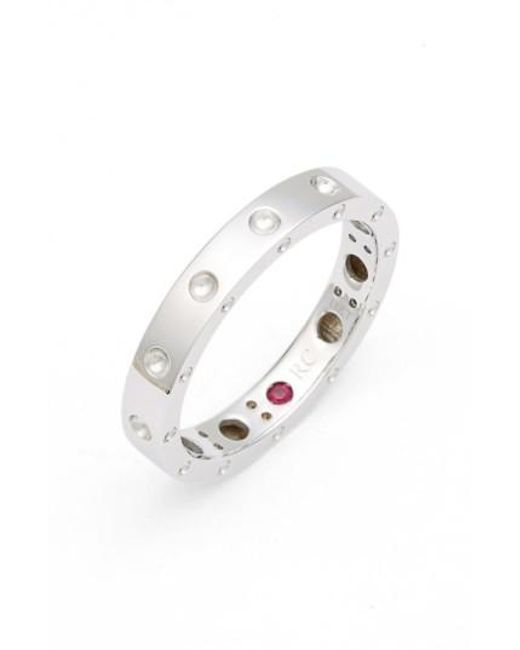 Roberto Coin | White 'symphony - Pois Moi' Ruby Band Ring | Lyst