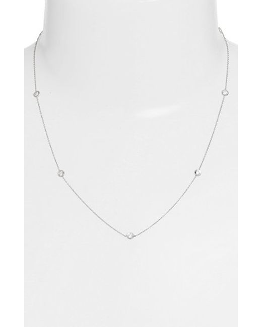 Roberto Coin | Metallic Diamond Station Necklace | Lyst
