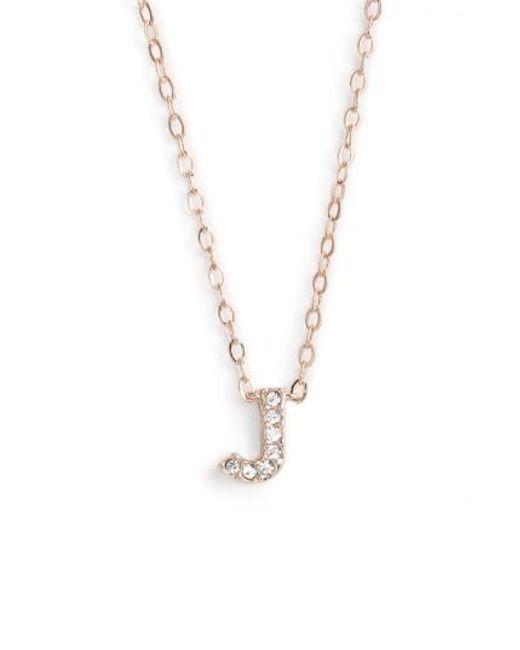 Nadri   Metallic Initial Pendant Necklace   Lyst