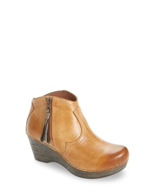 Dansko | Brown Veronica Bootie | Lyst