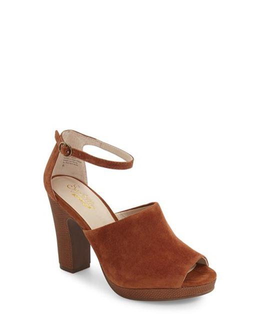 Seychelles | Brown Ankle Strap Platform Sandal | Lyst