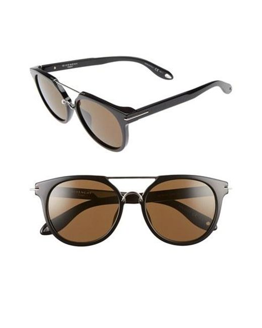 Givenchy | Black 7034/s 54mm Round Sunglasses | Lyst
