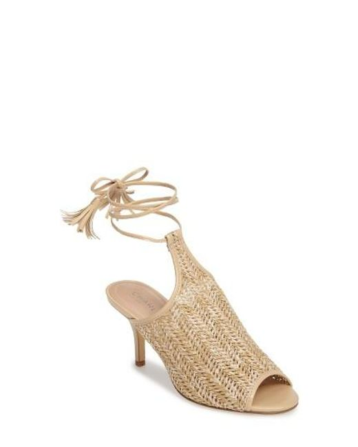 Charles by Charles David | Natural Niko Ankle Tie Sandal | Lyst