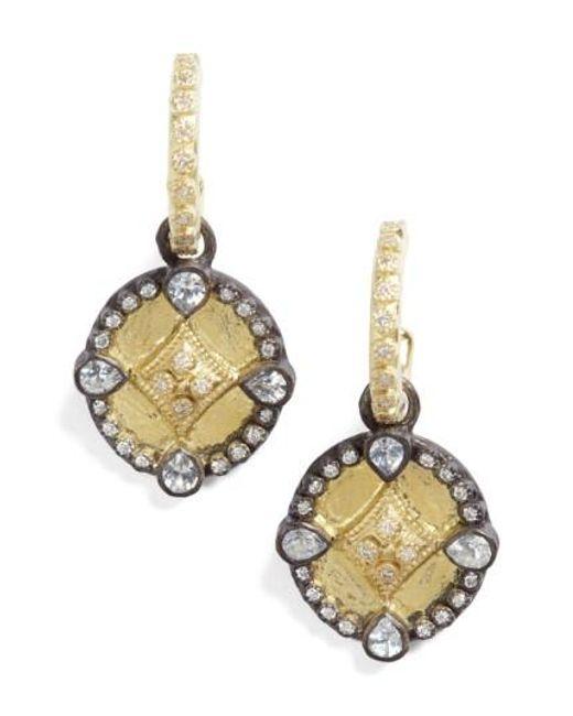Armenta   Metallic Old World Shield Diamond Drop Earrings   Lyst