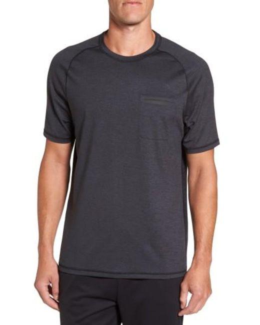 Zella | Black Celsian Moisture Wicking Pocket T-shirt for Men | Lyst