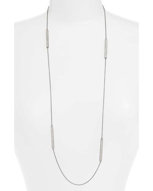 Freida Rothman   Metallic Contemporary Deco Station Necklace   Lyst