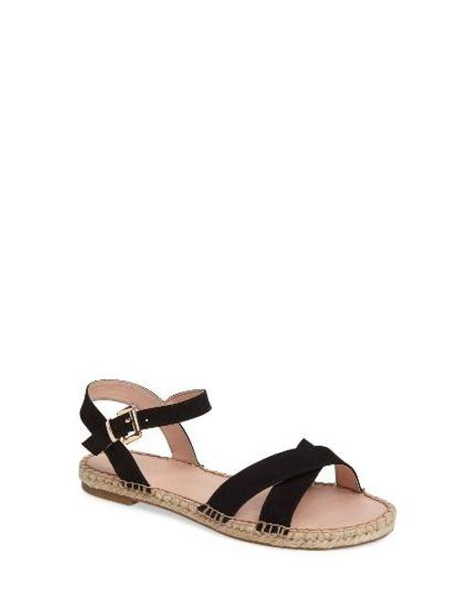 topshop eddy espadrille sandal in black lyst