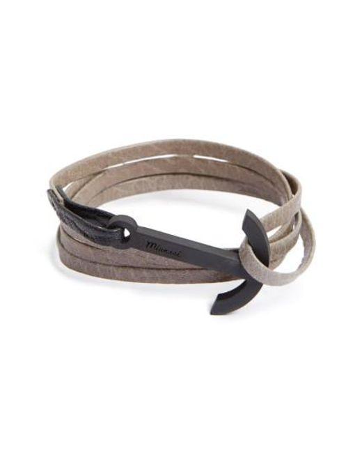 Miansai | Multicolor Modern Anchor Leather Wrap Bracelet | Lyst