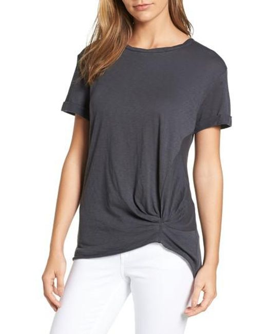 Caslon | Gray Caslon Knotted Tee | Lyst