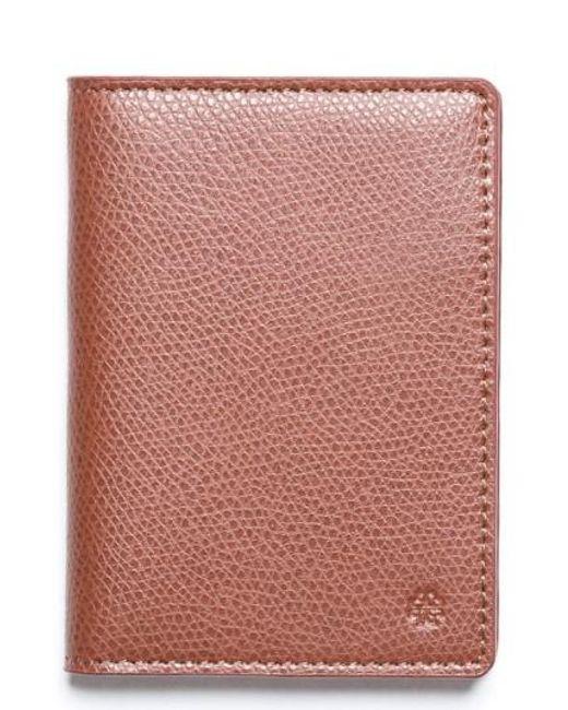 Hook + Albert | Brown Vertical Leather Wallet for Men | Lyst