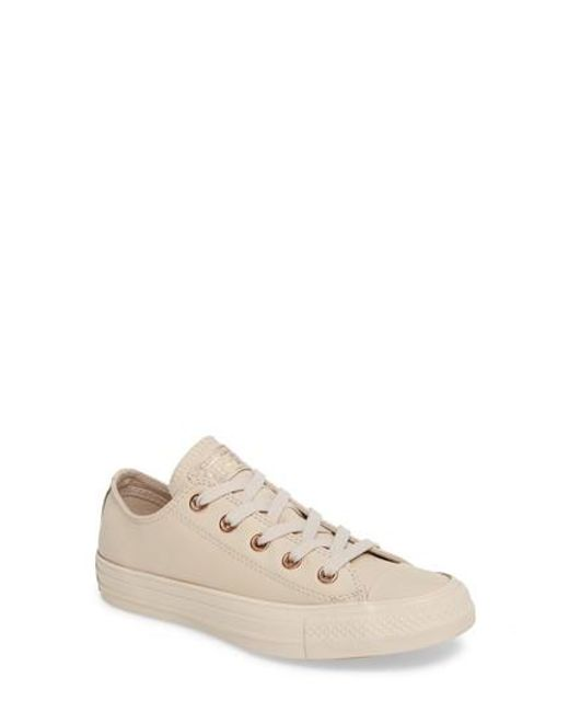 Converse   Natural Chuck Taylor All Star Low Sneaker   Lyst