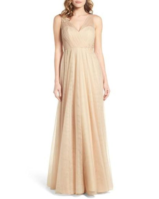 Jenny Yoo | Natural Emelie Illusion Gown | Lyst