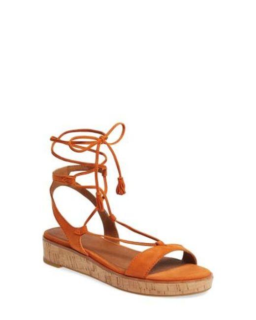 Frye | Orange Miranda Gladiator Platform Sandal | Lyst