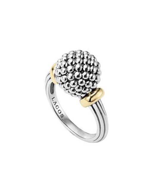 Lagos   Metallic Caviar Forever Medium Dome Ring   Lyst