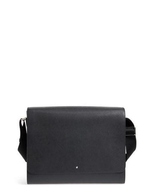 Montblanc - Black Sartorial Messenger Bag for Men - Lyst