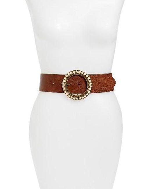 Hinge | Brown Ornamental Buckle Belt | Lyst