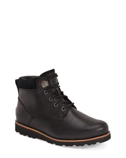 Ugg   Black Ugg Seton Waterproof Chukka Boot for Men   Lyst
