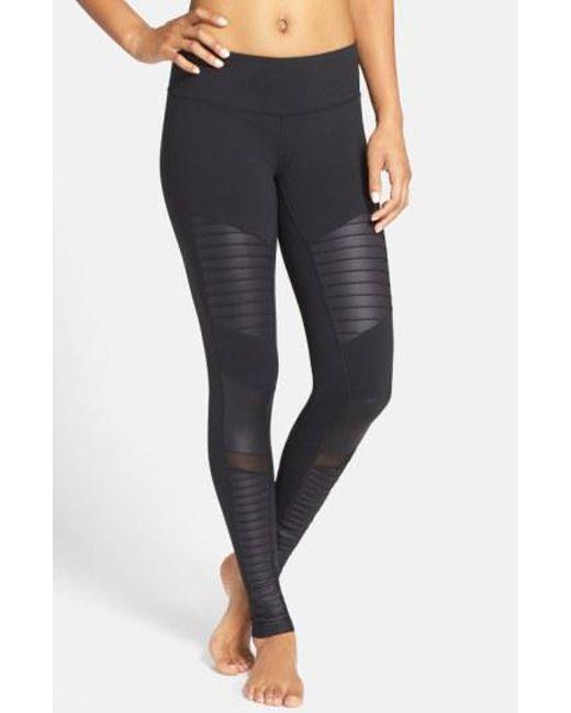 Alo Yoga - Black Moto Leggings - Lyst