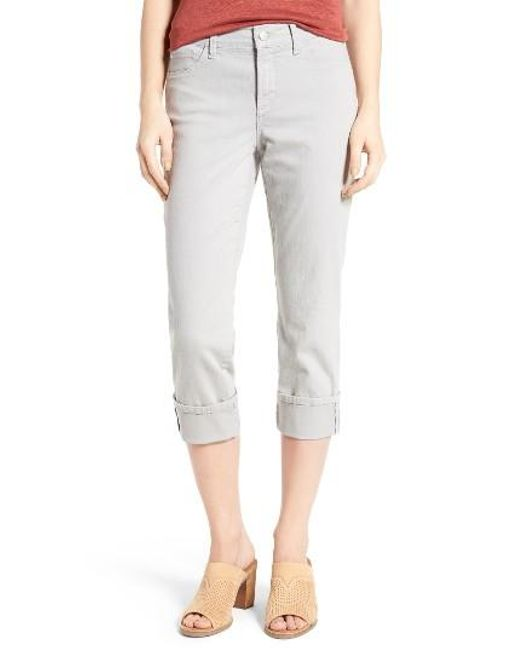 NYDJ   Multicolor Dayla Colored Wide Cuff Capri Jeans   Lyst