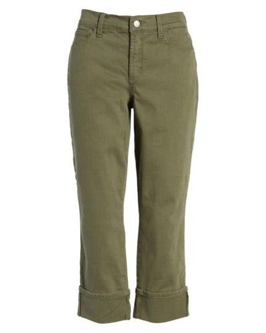NYDJ | Green Dayla Colored Wide Cuff Capri Jeans | Lyst