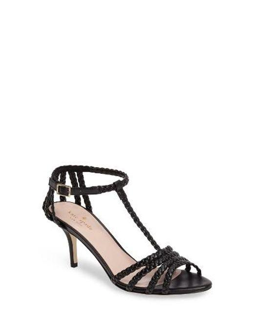 Kate Spade   Black Sullivan Strappy Sandal   Lyst