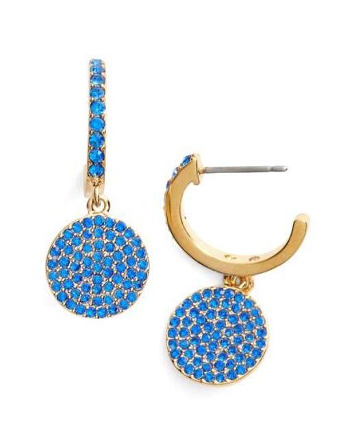 Kate Spade | Blue Shine On Pave Drop Earrings | Lyst