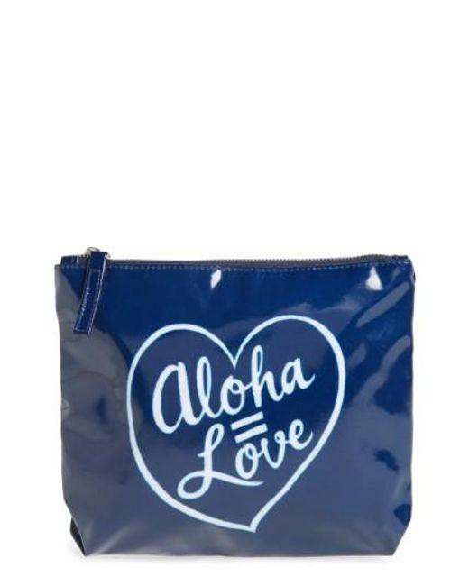 Ki-ele | Blue Aloha Love Pouch | Lyst