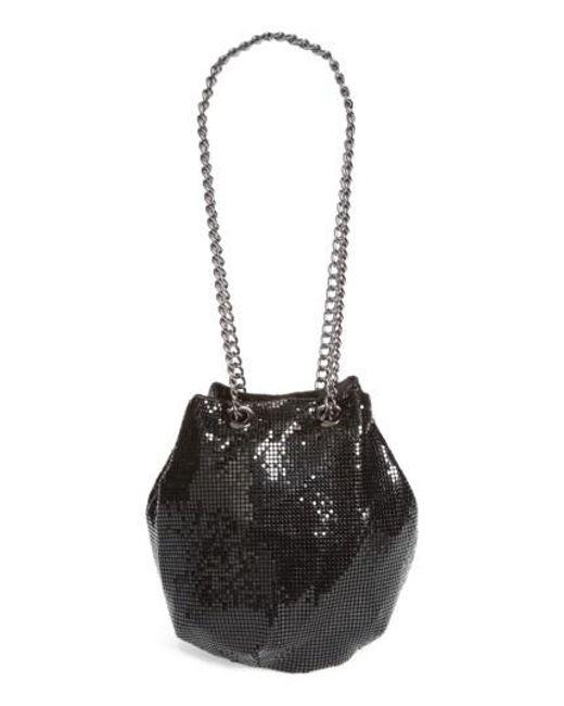 Whiting & Davis   Black Mesh Bucket Bag   Lyst