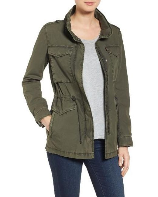 Levi S Levi S Four Pocket Military Jacket In Green Lyst