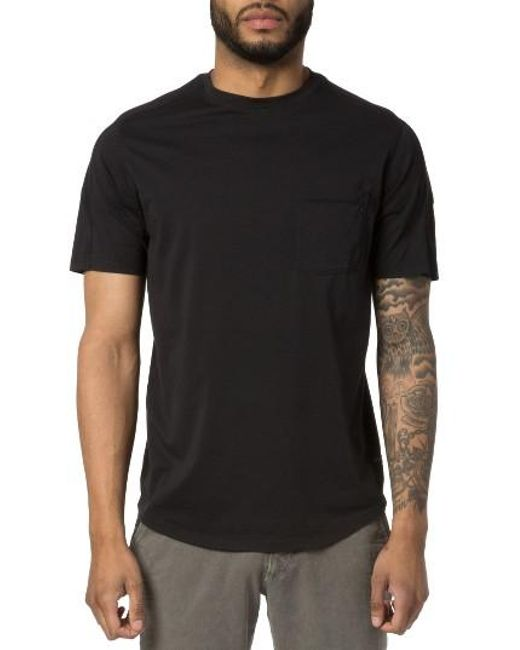 Good man brand cotton t shirt in black for men lyst for Good t shirts brands