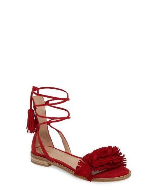 Pelle Moda   Red Harah Sandal   Lyst
