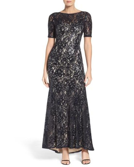 Adrianna Papell   Multicolor Sequin Lace Gown   Lyst