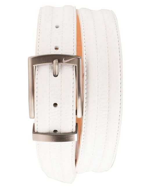 Nike | White Golf 'g-flex Tripunto' Leather Belt for Men | Lyst