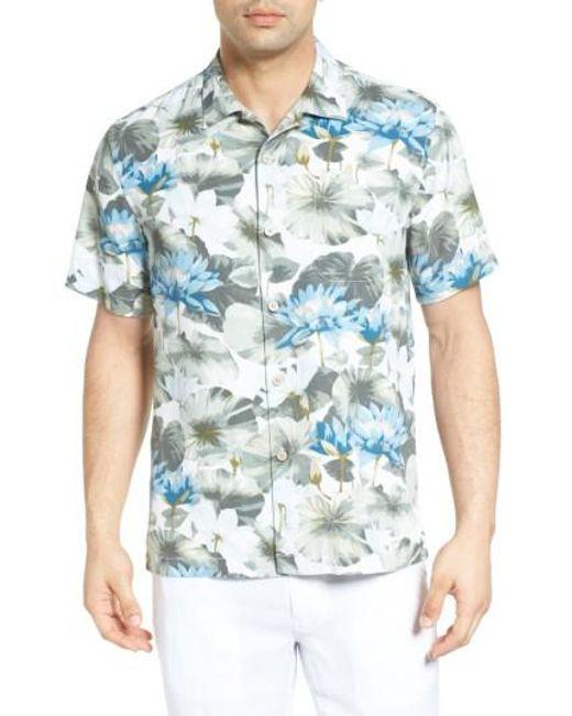 Tommy Bahama | Blue Lagoon Lotus Original Fit Silk Camp Shirt for Men | Lyst