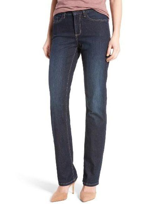 NYDJ | Blue Marilyn Bootcut Stretch Jeans | Lyst
