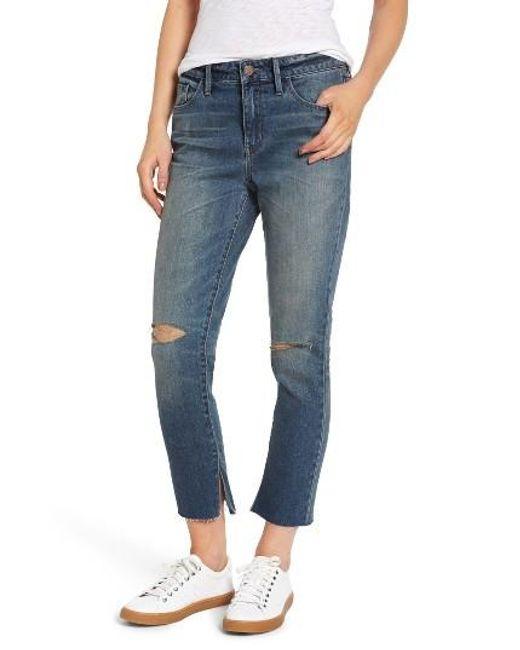 Treasure & Bond | Blue High Waist Skinny Crop Jeans | Lyst