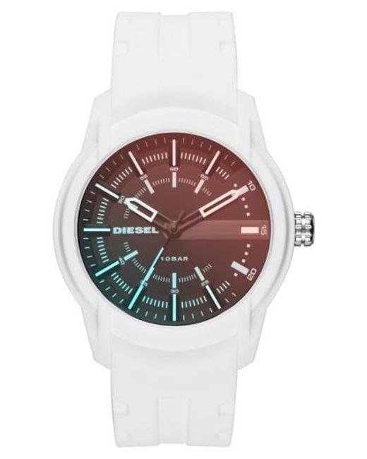 DIESEL | Multicolor Diesel Rasp Silicone Strap Watch for Men | Lyst