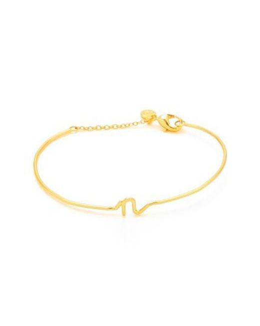 Gorjana   Metallic Alphabet Bracelet   Lyst