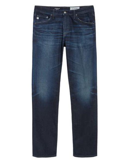 AG Jeans | Blue Graduate Slim Straight Fit Jeans for Men | Lyst
