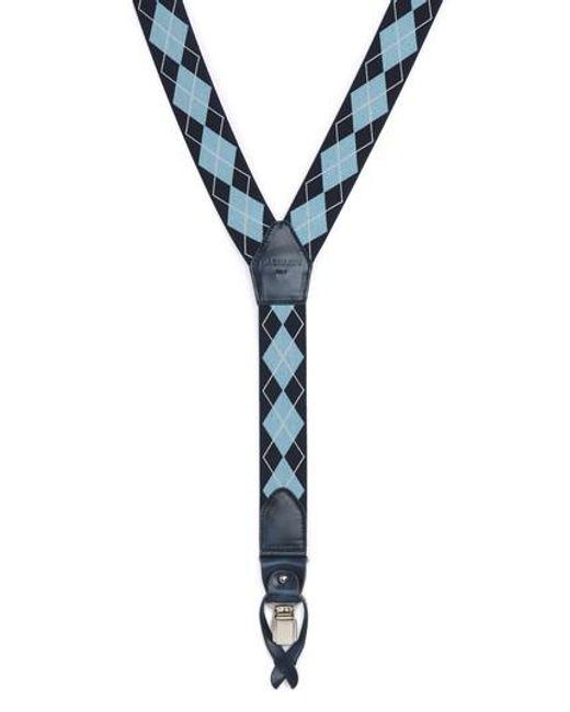 Magnanni Shoes | Blue Diamond Suspenders for Men | Lyst