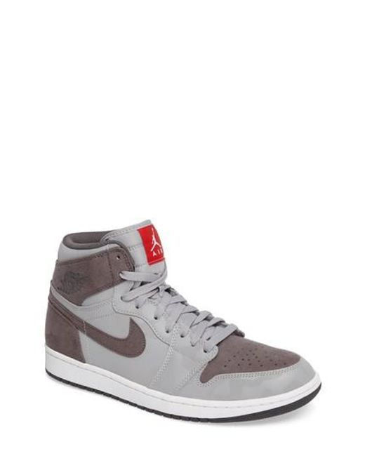 Nike | Gray Air Jordan 1 Retro High Top Sneaker for Men | Lyst