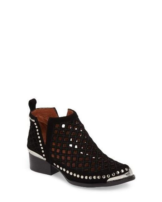 Jeffrey Campbell | Black Tagalong Cutout Bootie | Lyst