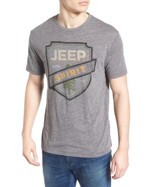 Lucky brand Jeep Spirit Graphic Tee in Gray for Men