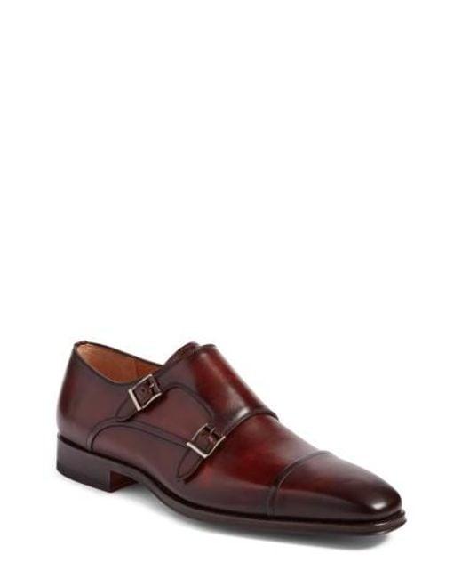 Magnanni Shoes   Brown Santino Double Monk Strap Shoe for Men   Lyst